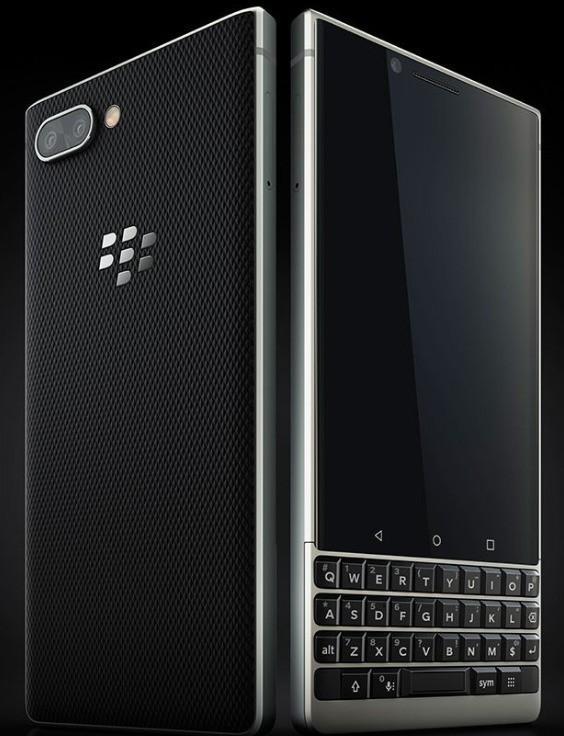黑莓KEY 2真机渲染 曝光 全键盘+后置双摄设计