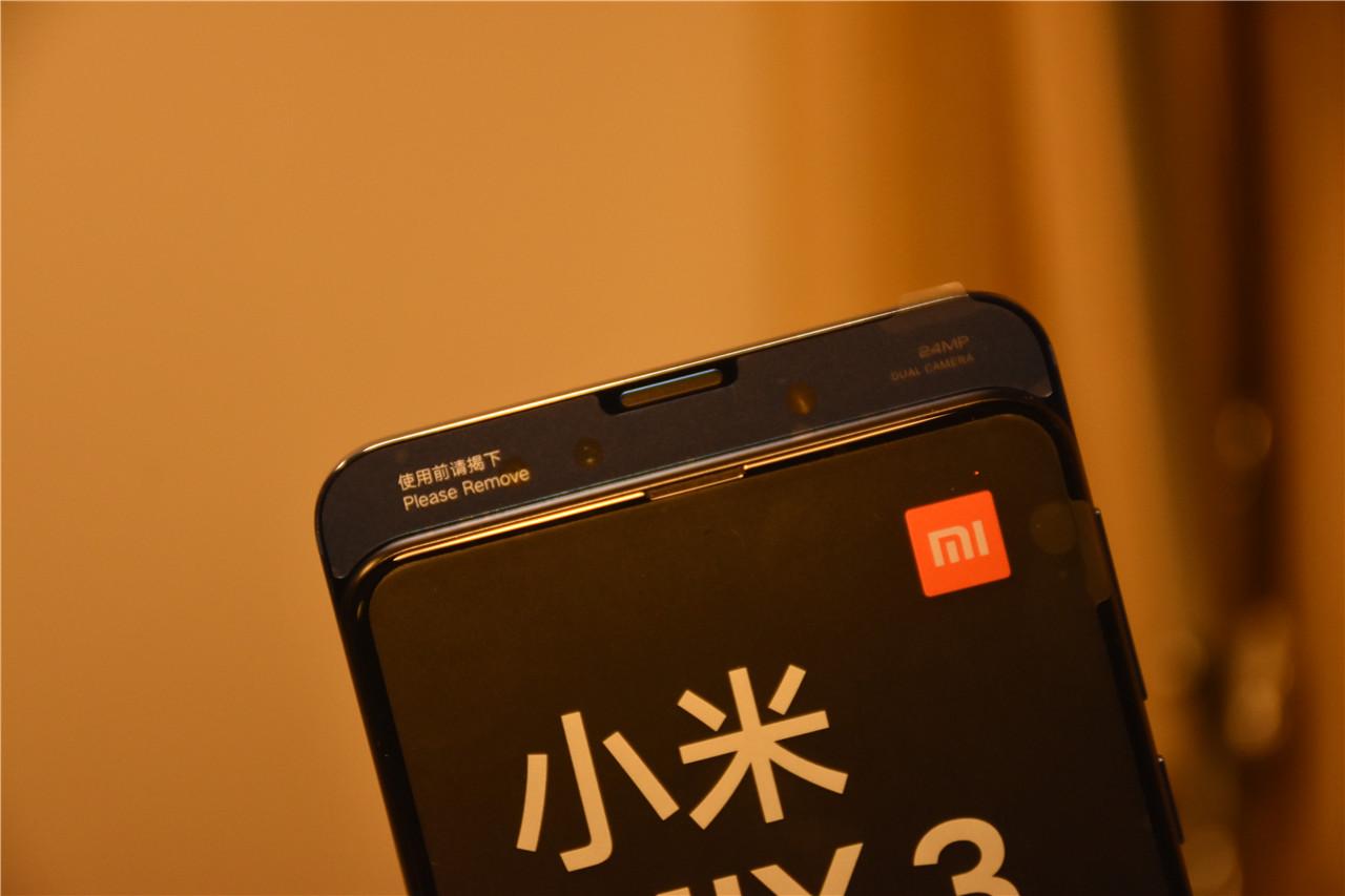 滑盖式旗舰新品 小米MIX 3真机上手 屏幕惊艳
