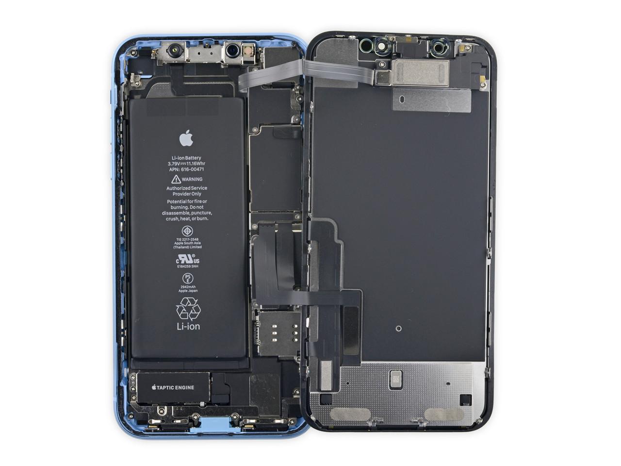 iPhone XR真机拆解:主板设计亮了