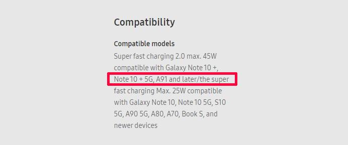 三星5G新机曝光:45W快充加持