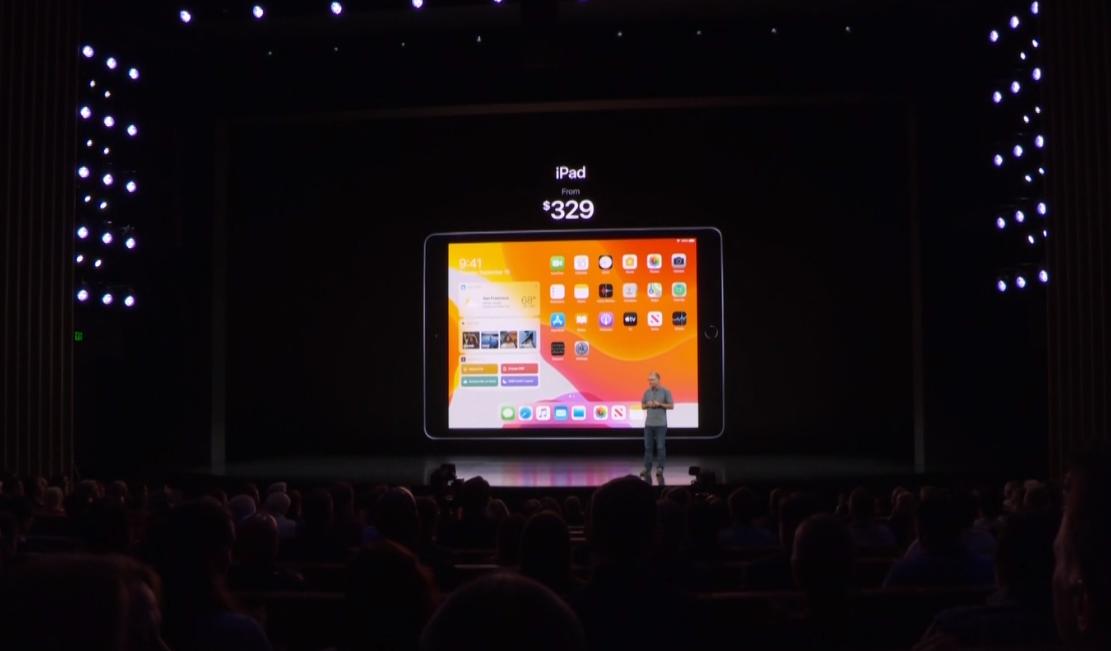 苹果全新iPad发布 升级10.2英寸屏幕