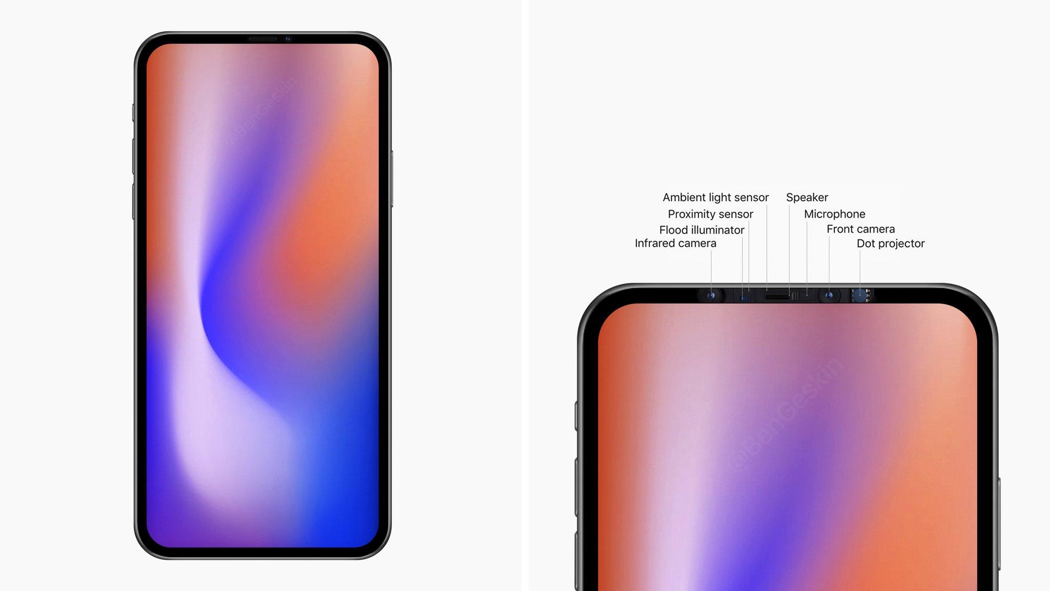 刘海终于没了!苹果开始测试100%屏幕新iPhone
