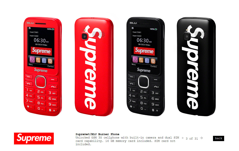 Supreme聯名手機開售:60美元秒售罄 已炒到200美元