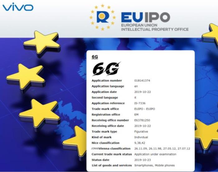 提前十年布局:vivo注冊6G網絡徽標