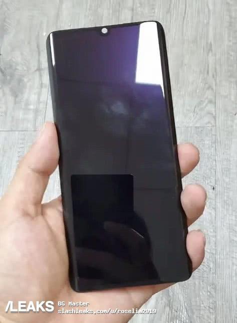 疑似小米CC9 Pro前面板曝光:曲面水滴屏