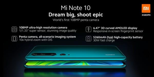 小米Note10正式发布 CC9 Pro同款一亿像素镜头