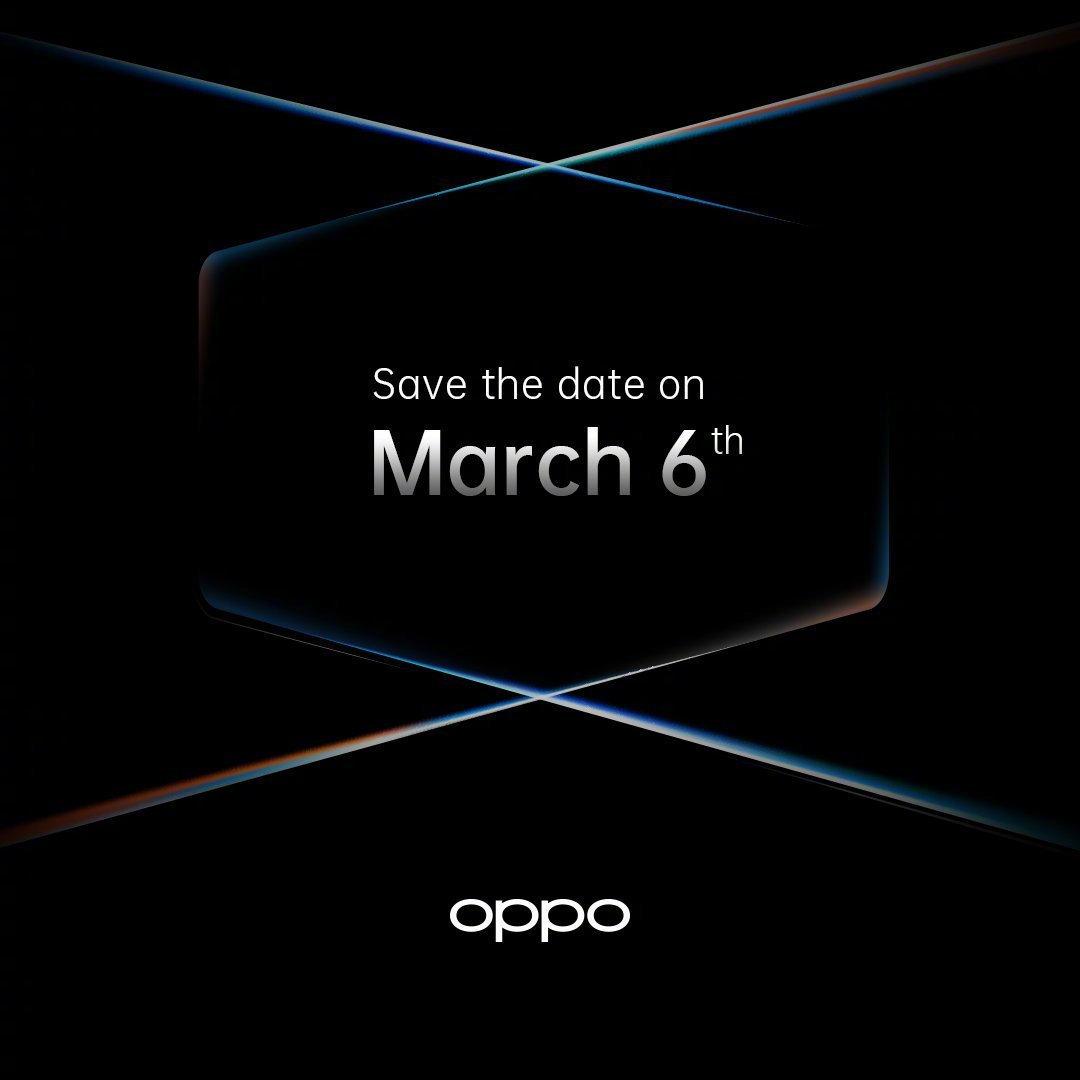 OPPO旗艦發布會定檔 3月6日見