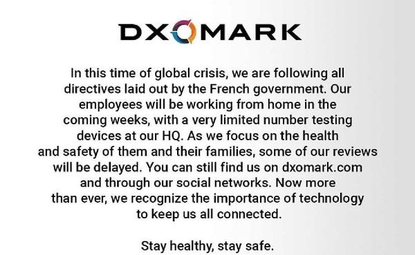 DXOMARK发公告:P40得分这次悬了