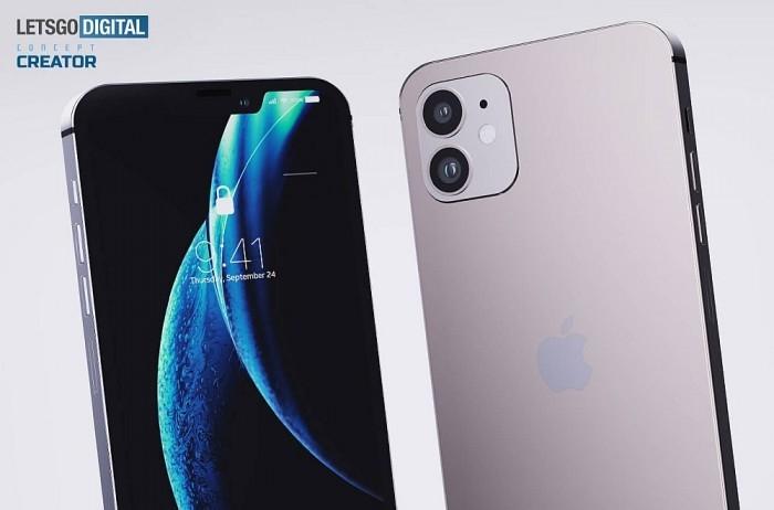 看着就割手?iPhone 12高清渲染图:刘海小了