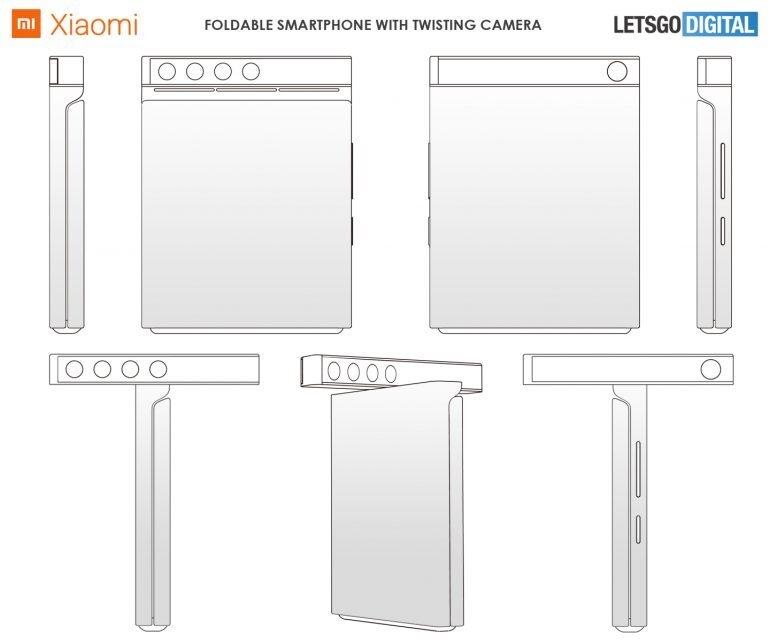 小米折叠屏专利曝光:上下翻折、镜头可转体