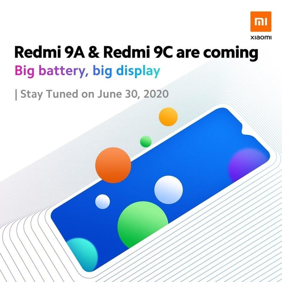 Redmi 9A/9C官宣:大屏幕、大电池
