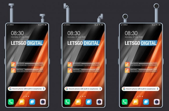 小米手机新专利曝光:屏下镜头、内置耳机收纳槽
