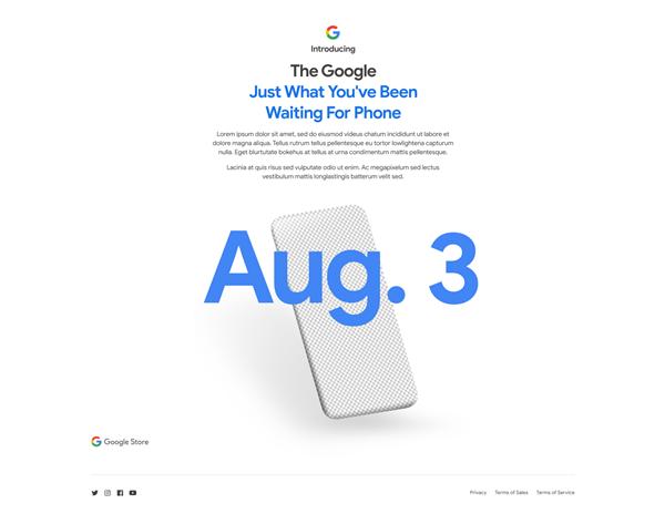 官宣:谷歌亲儿子8月3日见