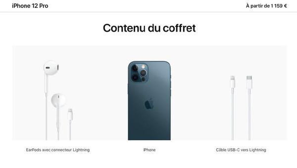 全球独一份 iPhone 12系列法国版标配有线耳机