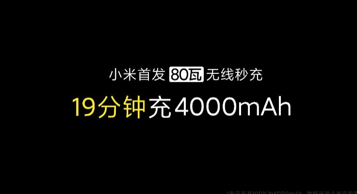 小米首发80W无线秒充!刷新纪录、19分钟充满