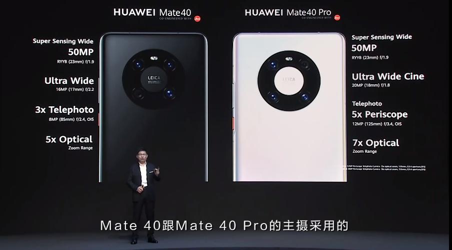 徕卡五摄!华为Mate40系列正式发布:百倍变焦、史上最强