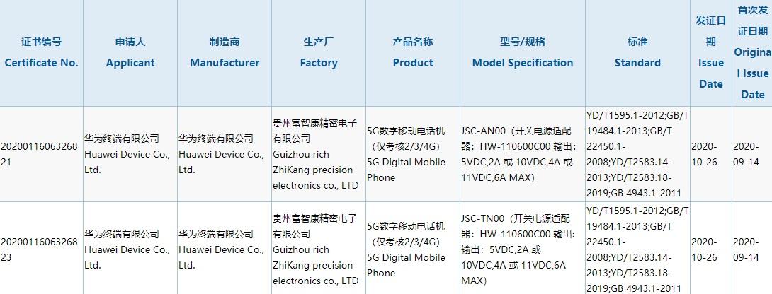 华为nova 8系列入网:66W快充+120Hz高刷屏