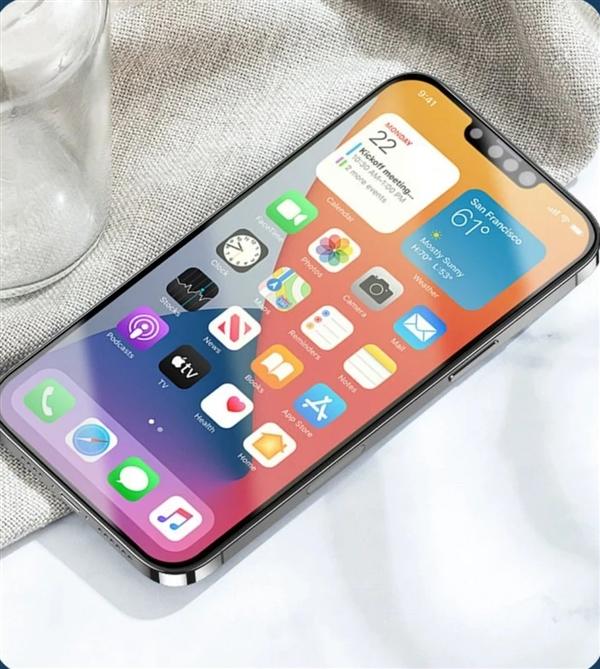 iPhone13贴膜曝光:这刘海 真的小