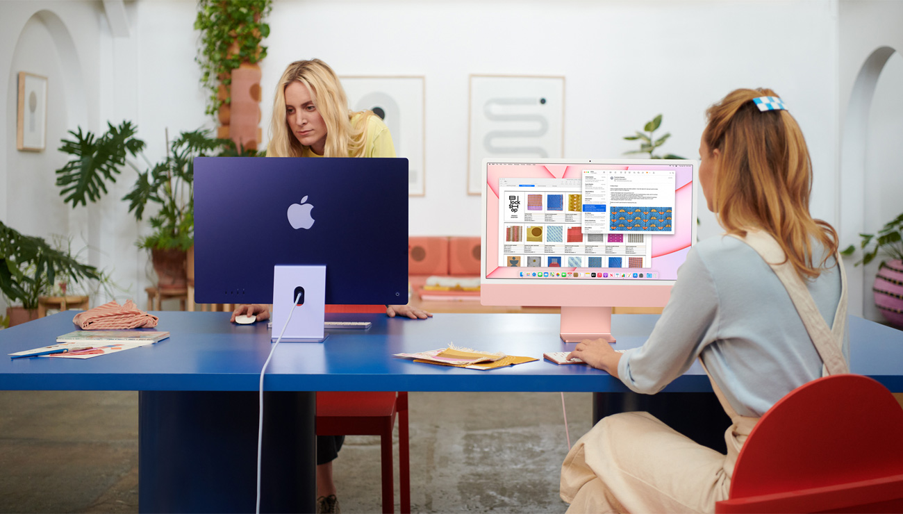 苹果全新24英寸iMac发布 M1芯片加持 史上最薄