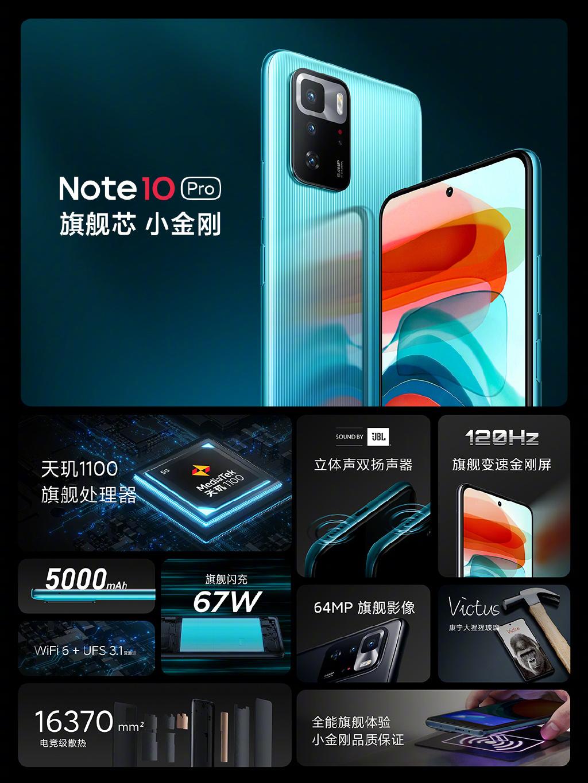 Redmi Note 10系列发布:999元起、史上性能最强Note