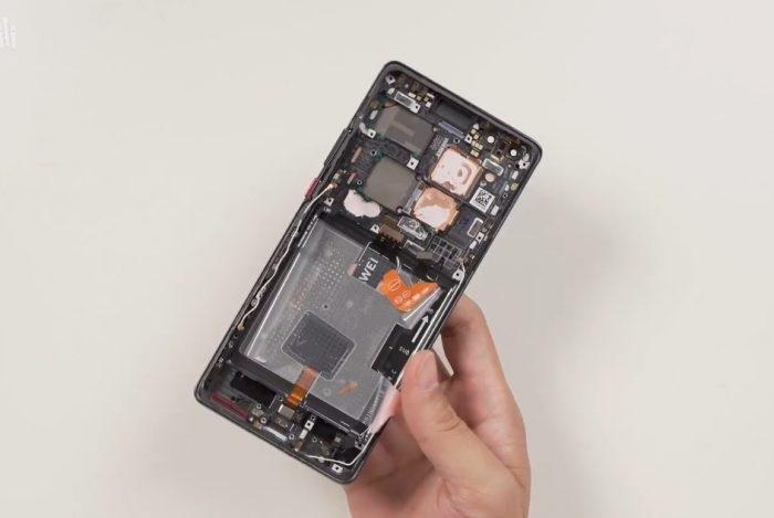 华为Mate 40 Pro拆解:内部一览无余、模块化设计