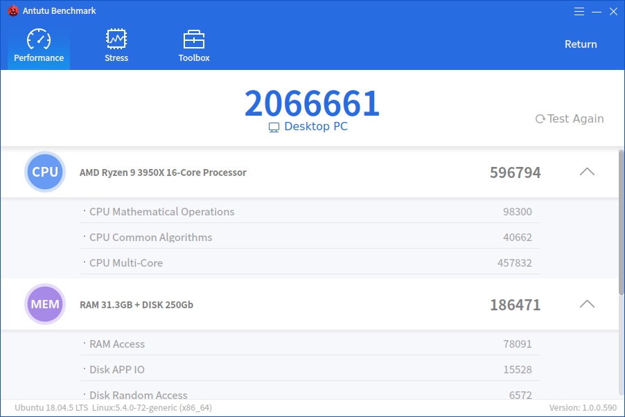 The Linux version AnTuTu Benchmark is online, Windows version coming soon
