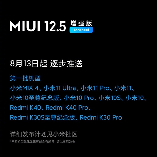 MIUI 12.5增强版已推送:全面优化